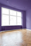 Real estate interior - room with purple walls Stock Image