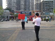 Real estate intermediary, in Shenzhen, China Stock Photo