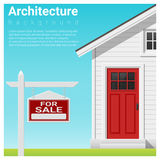 Real estate investment background with house for sale Royalty Free Stock Photo