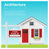 Real estate investment background with house for sale Royalty Free Stock Photography