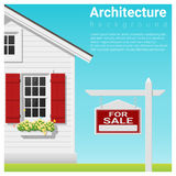 Real estate investment background with house for sale Royalty Free Stock Images