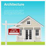 Real estate investment background with house for sale. Vector , illustration Stock Images