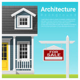 Real estate investment background with house for sale. Vector , illustration Stock Photo