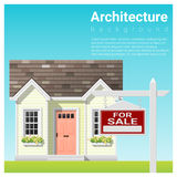 Real estate investment background with house for sale. Vector , illustration Royalty Free Stock Images
