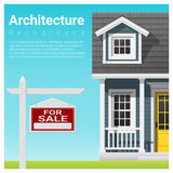 Real estate investment background with house for sale. Vector , illustration Stock Image