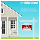Real estate investment background with house for sale. Vector , illustration Stock Photos
