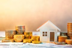 Real estate investment. Saving money concept Royalty Free Stock Image