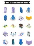 20 Real Estate isometric icons. 20 Real Estate isometric icons set vector illustration