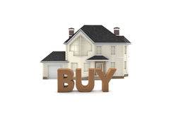 Real Estate kaufen Lizenzfreies Stockfoto