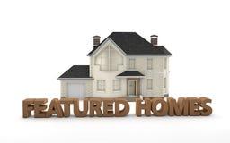 Real Estate kennzeichnete Häuser Lizenzfreie Stockfotos