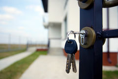 Real estate. The keys for the new house, real estate agency