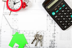 Real Estate-Konzept-Hintergrund Stockbild