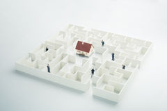 Real estate labyrinth Royalty Free Stock Photo