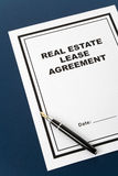 Real Estate Lease Contract. And pen close up Stock Photography
