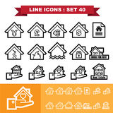 Real Estate line icons set 40 Royalty Free Stock Images