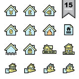 Real Estate line icons set Royalty Free Stock Images