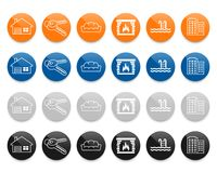 Real estate line vector icons set. Real estate line icons set. Vector illustration Royalty Free Stock Photo