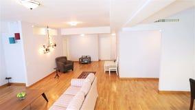 Real estate livingroom stock video footage