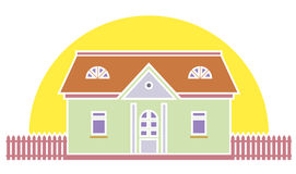 Real estate llustration. Vector illustration on white background Stock Photography
