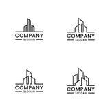 Real Estate loga set Monochromu domowy logo Zdjęcia Stock