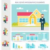 Real Estate, logement et location des éléments d'Infographics illustration stock