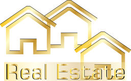Real estate logo royalty free illustration