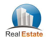 Real Estate logo. Nice and glossy real estate logo, very detailed and expressive stock illustration