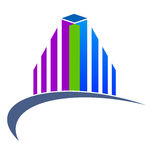 Real estate logo. Vector illustration of real estate logo design isolated on white background Royalty Free Stock Image
