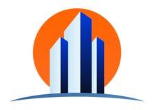 Real estate logo. Illustration of real estate logo design isolated on white background Royalty Free Stock Photo