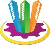 Real estate logo. A vector drawing represents real estate logo design Stock Photography