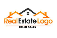 Real Estate logo Zdjęcia Stock