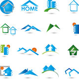Real estate, logo, Collection, houses Stock Photo