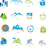 Real estate, logo, Collection, houses Royalty Free Stock Photo