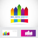 Real estate logo colored Royalty Free Stock Photography