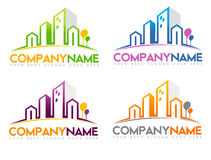 Real Estate Logo. Concept design in different colors combination Royalty Free Stock Photos