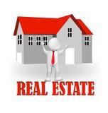 Real Estate-Logo des Mittel-3D Stockbilder