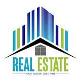 Real Estate Logo Design ilustración del vector