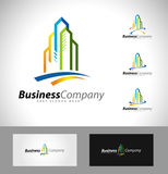 Real Estate Logo Design Stock Afbeelding