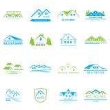 Real Estate Logo Design Fotografie Stock Libere da Diritti
