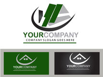 Real estate logo design Royalty Free Stock Photos