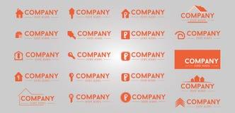 20 real estate logo design Royalty Free Stock Photo