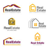 Real Estate Logo Design. Creative abstract real estate icon logo set Royalty Free Stock Images