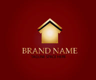 Real estate logo design. Home icon isolated on simple background Stock Photo