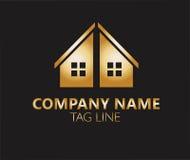 Real estate logo design Royalty Free Stock Images