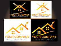 Real estate logo design Stock Photography