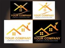 Real estate logo design Stock Photography