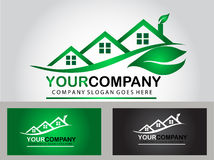 Real estate logo design Stock Image