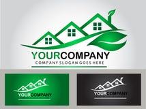 Real estate logo design Stock Image