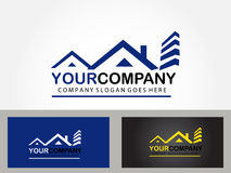 Real estate logo design Royalty Free Stock Images