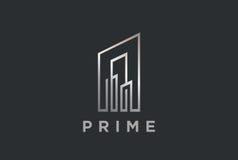 Real Estate Logo design vector Linear Building Dev Royalty Free Stock Photos